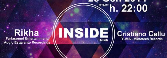 Musica: Giovedi' 23 gennaio, alla consolle di INSIDE Club: Rikha e Cristiano Cellu
