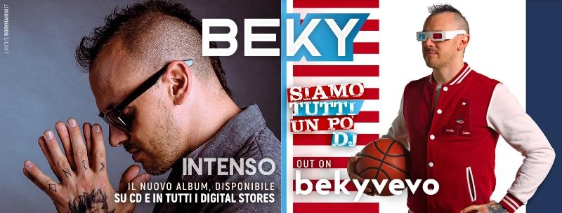 """Beky: il 6 aprile esce l' album """"Intenso"""" e il nuovo singolo """"Siamo Tutti un Po' DJ"""""""