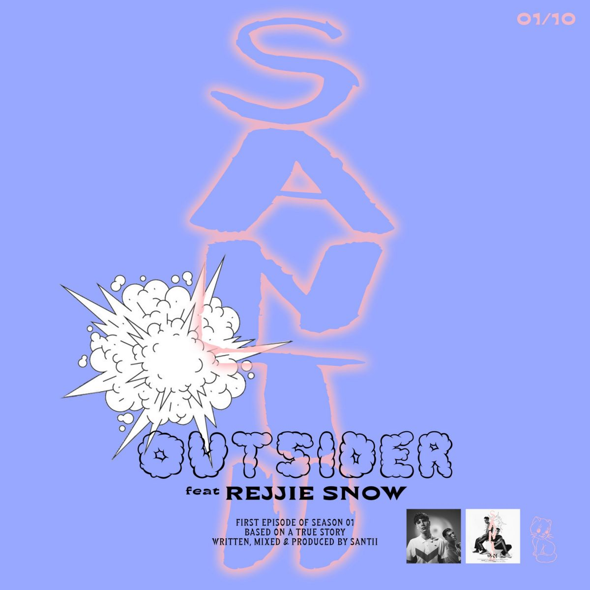 Santii feat. Rejjie Snow, guarda il video di Outsider