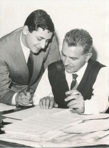 Donida (a destra) e Mogol