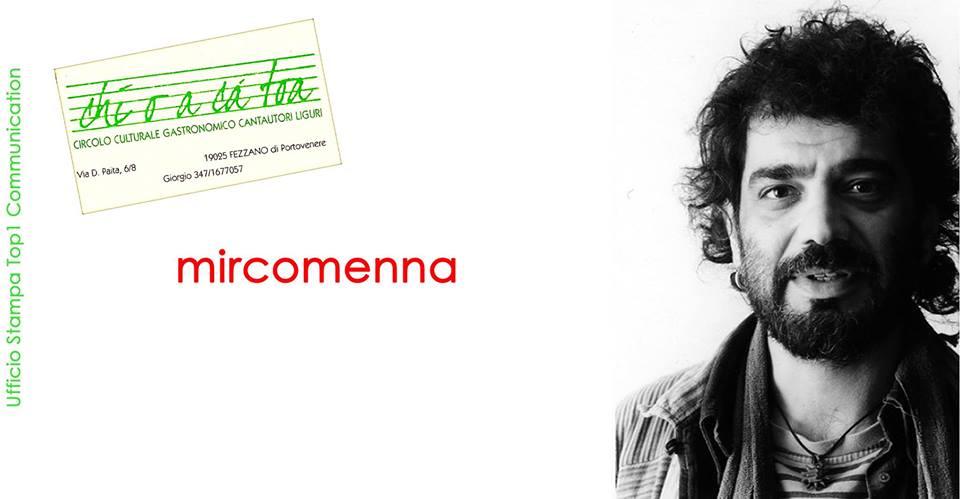 """Incontri d'Autore con Mirco Menna da """"O chi o a cà toa""""a Fezzano di Portovenere. Sabato 13 ott ore 20.00 SPEZIA"""